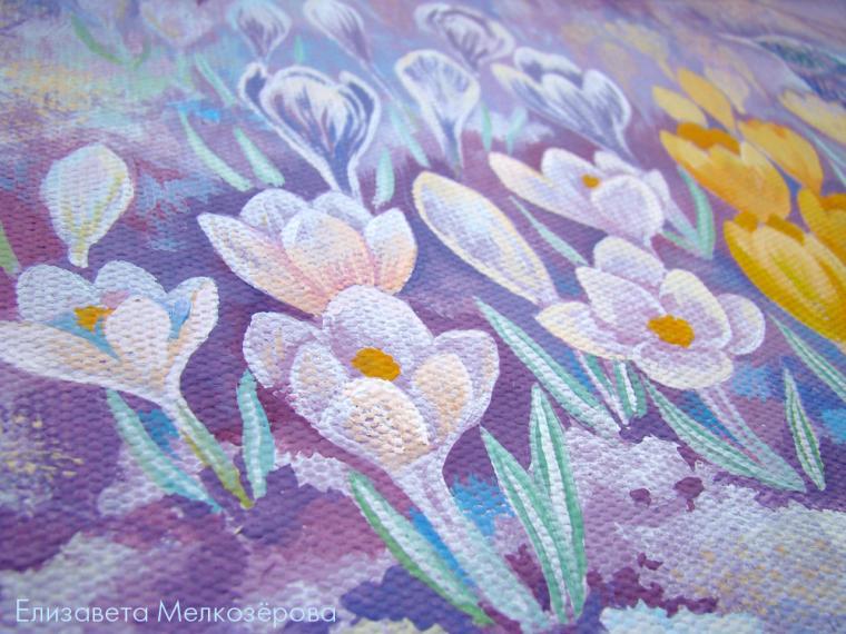 картина в детскую, подарок женщине, лиловый, пастельные тона