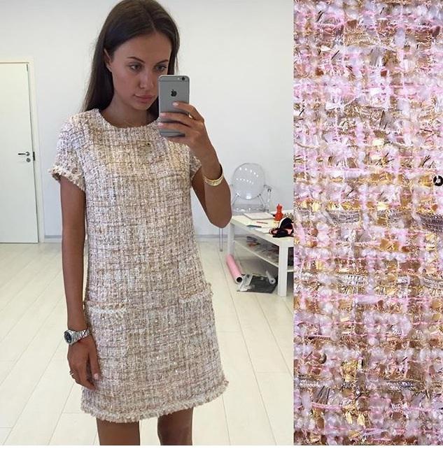 Сшить платье из ткани шанель