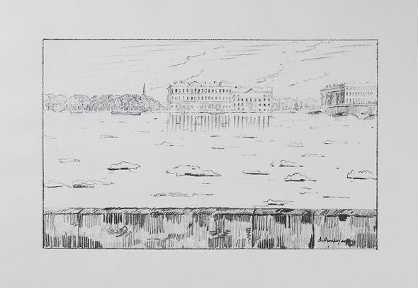 Черно-белая графика знаменитых художников, фото № 37
