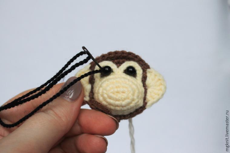 брошка обезьянка, брошь обезьянка