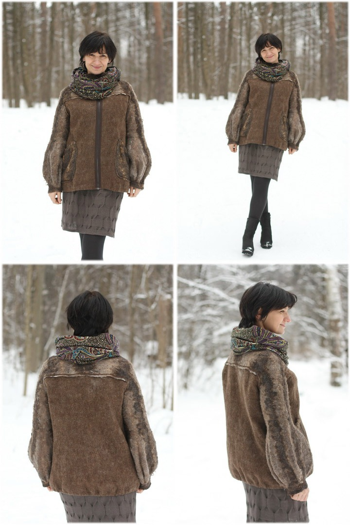 From Simple to Complex: Felting a Jacket with a Yoke, фото № 46