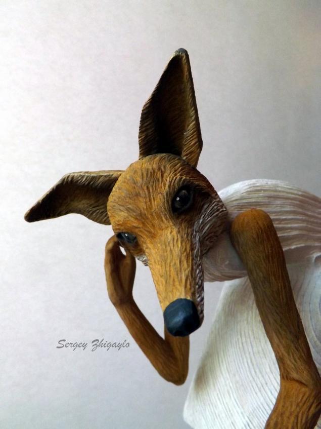 куклы, деревянные, лисица