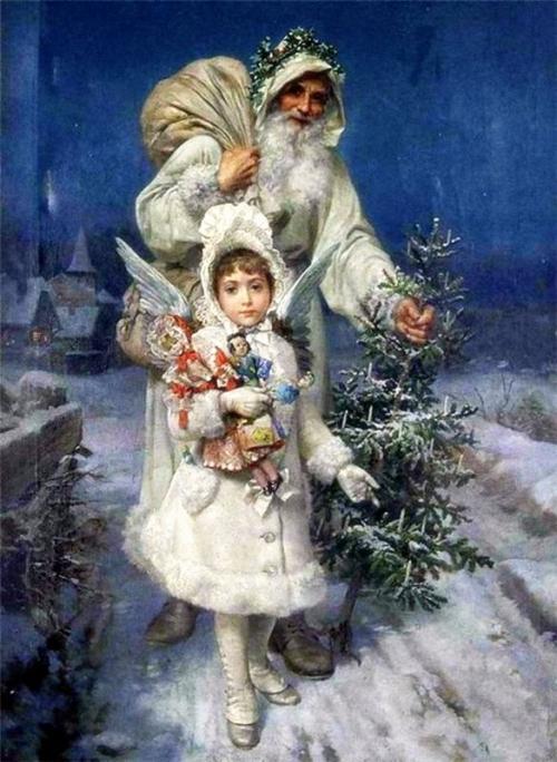 рождество картины маслом