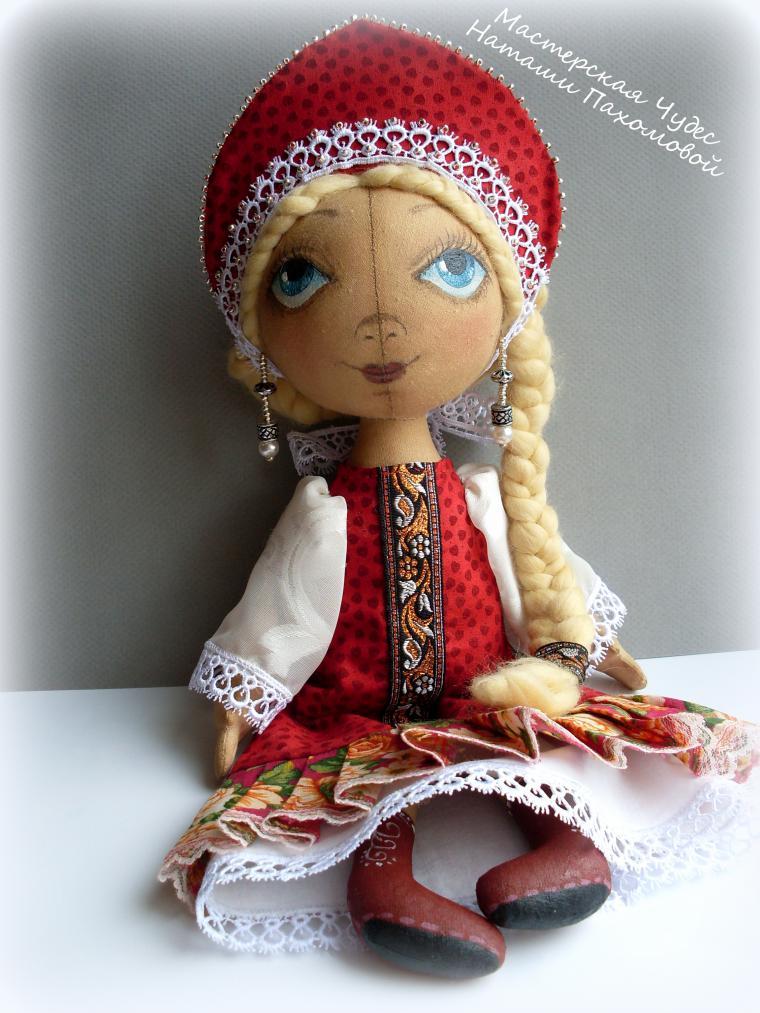 Русская текстильная кукла своими руками