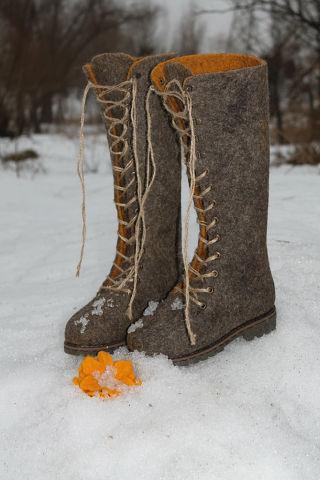 валяние обуви, валентина костецкая