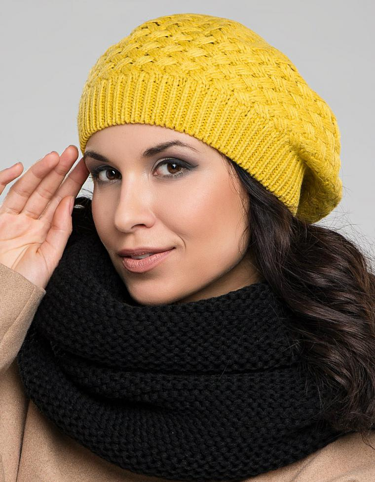 Модные шапочка берет вязать