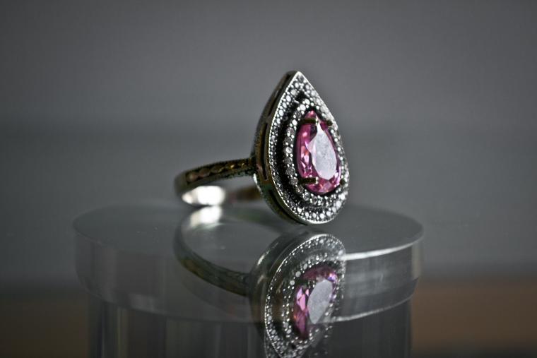 розовая пантера, серебро 925 пробы, подарок женщине