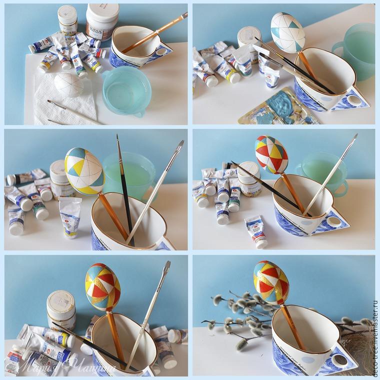 Мастер-класс: пасхальное яйцо в гнезде и подарочной коробочке, фото № 14