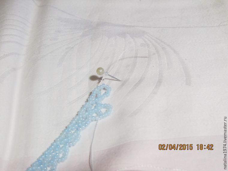 Плетем из бисера косынку «Зимний вечер»: публикации и мастер-классы – Ярмарка Мастеров