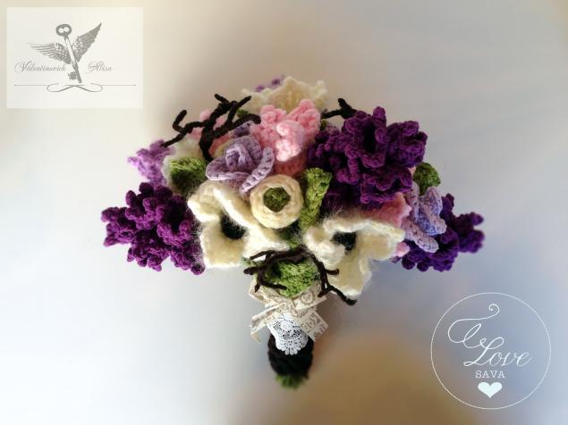 букет цветов, вязание, sava flowers