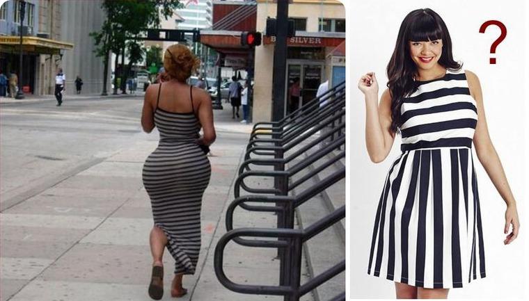 Продольные полосы на платье это