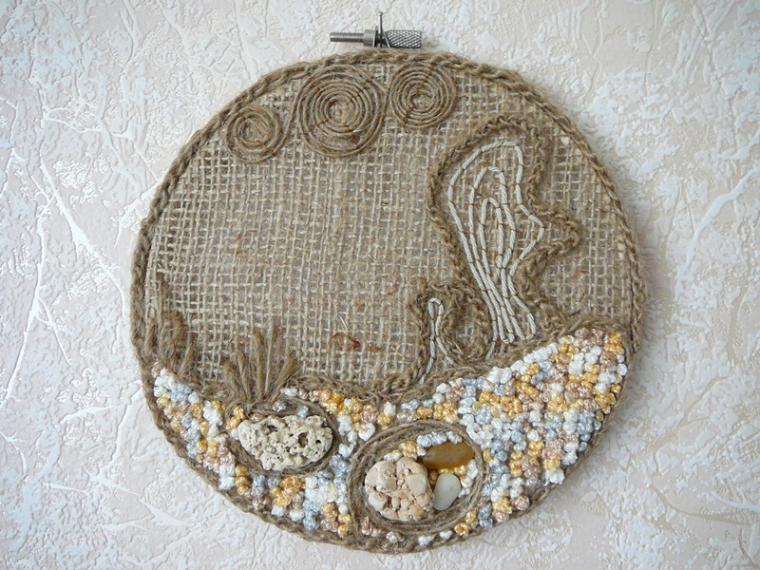 hoop art, вышивание, hoopart, вязание, идеи для творчества, идеи для дачи