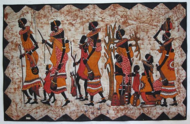 африканский батик, техника батика