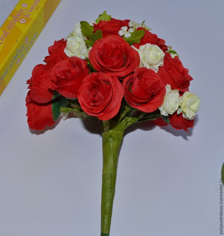 Цветы для букета дублера своими руками