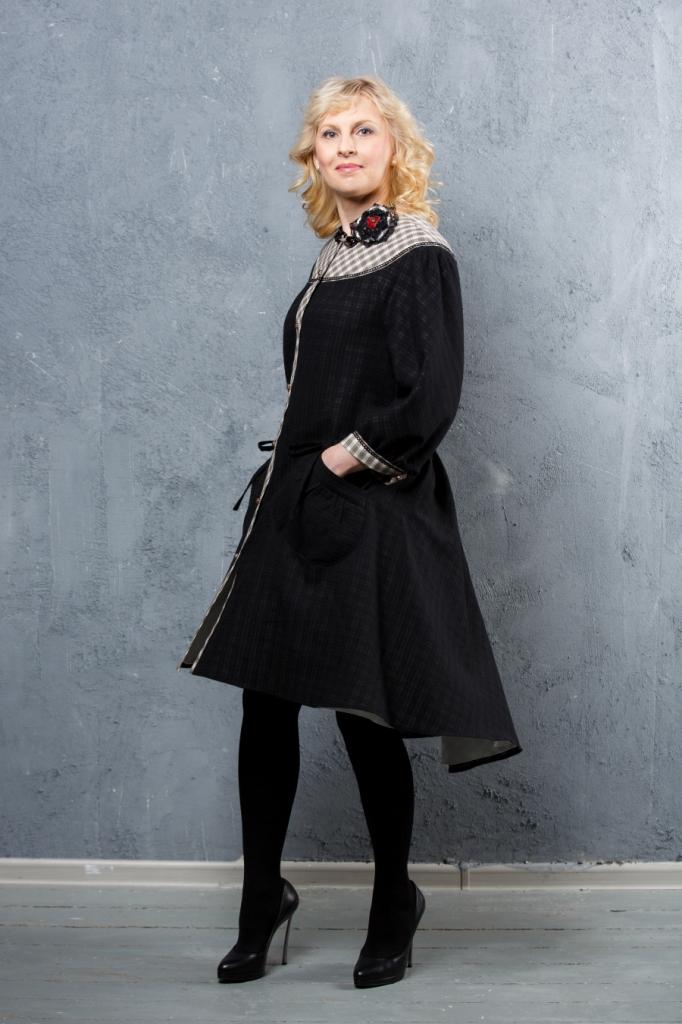 бохо стиль, натуральные материалы, платье на заказ, большие размеры, летнее пальто, клетка