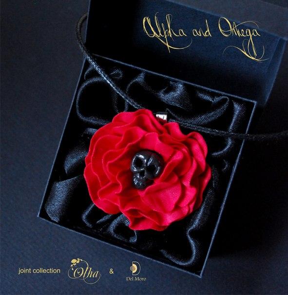 del-moro, ювелирная проволока, украшения с цветами, аксессуары с цветами, цветы из фоамирана, роза из фоамирана, черепа