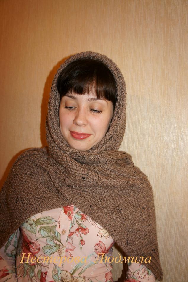 Японский шарф трансформер мастер класс  #3
