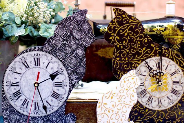 часы, кошачьи часы