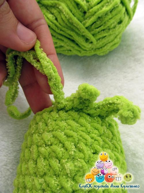 слизень, схема вязания осьминого