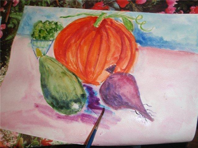 Рисуем с детьми «Осенний натюрморт», фото № 6