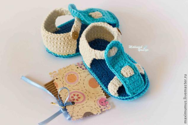 стильные пинетки сандалики для малыша мастер класс для начинающих
