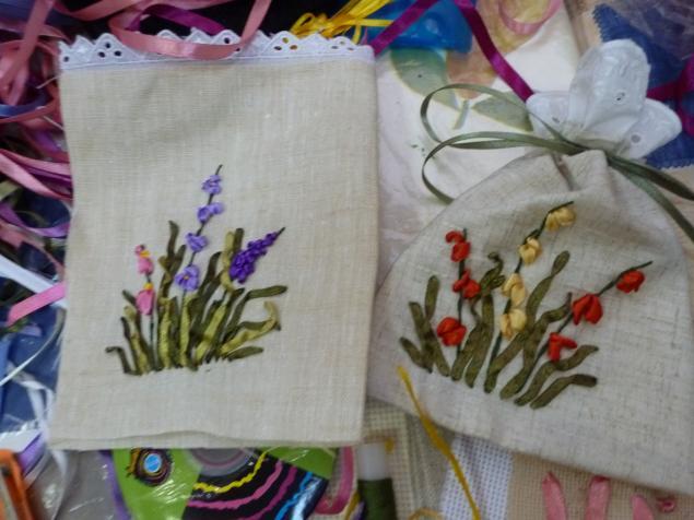 ленты для вышивания, hand-made
