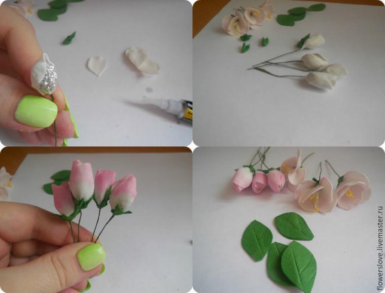 Цветы яблони из фоамирана своими руками с пошаговым фото для начинающих 73