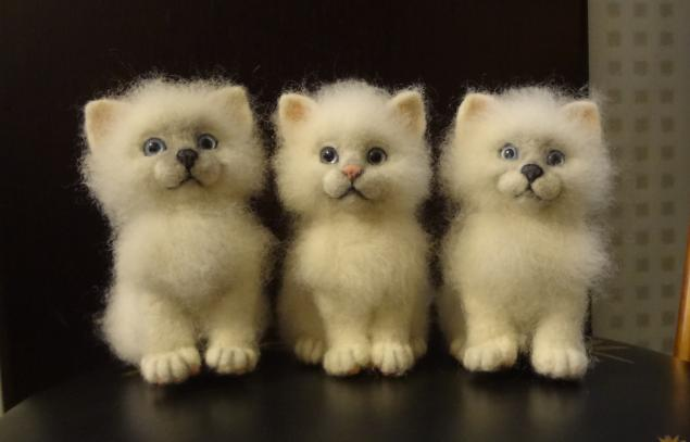 Котенок. мастер-класс по валянию