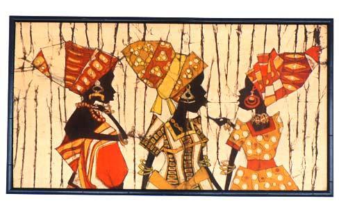 африка, история батика
