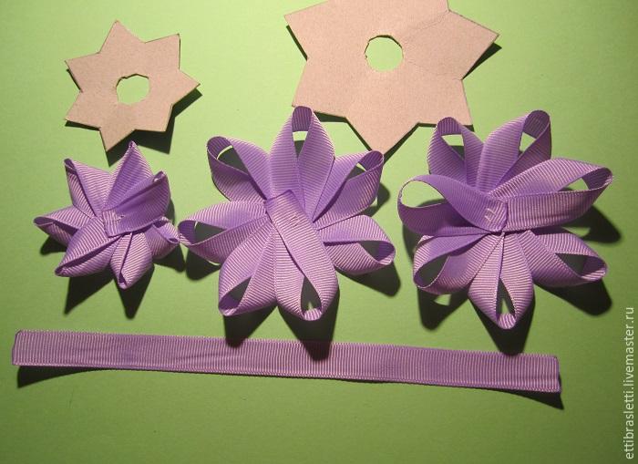 Собираем простой цветочек из ленты, фото № 13