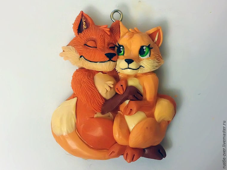 Modeling A Pendant Foxes in Love, фото № 31