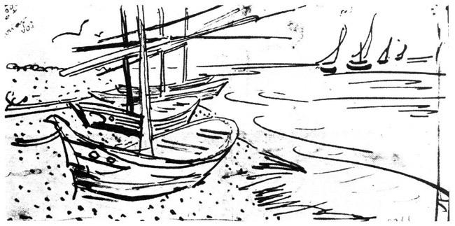 Черно-белая графика знаменитых художников, фото № 21