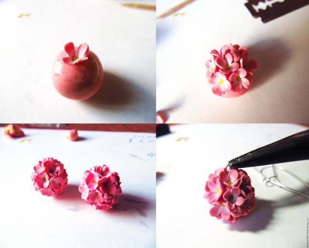 Мастер класс цветочные шары из полимерной глины