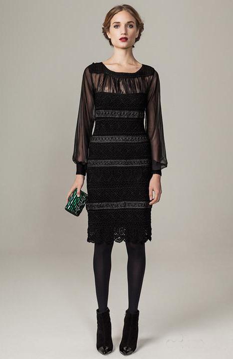черный, юбка