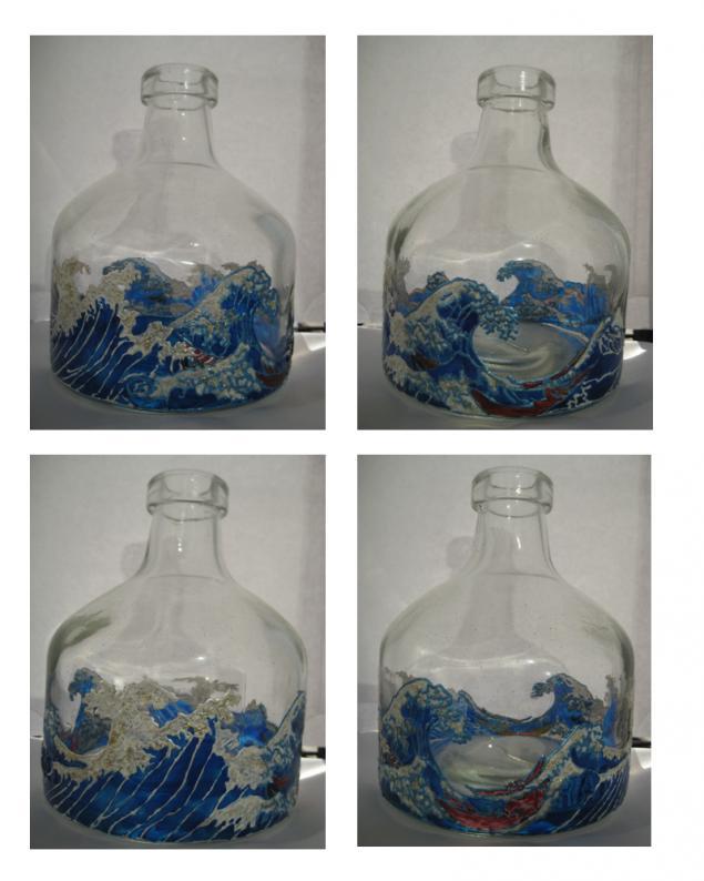 бутылка, посуда, морская тематика