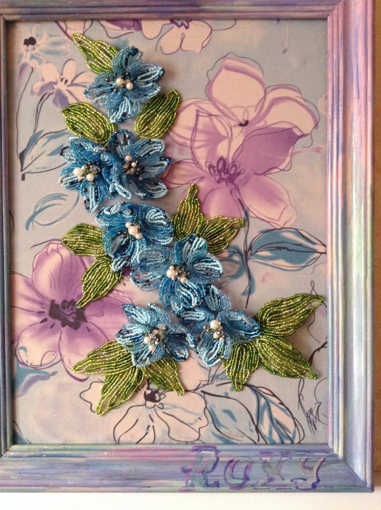 лаватера, картина цветов