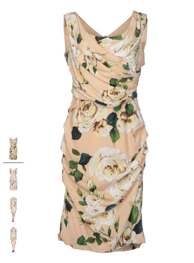 трикотажное платье, dolce gabbana