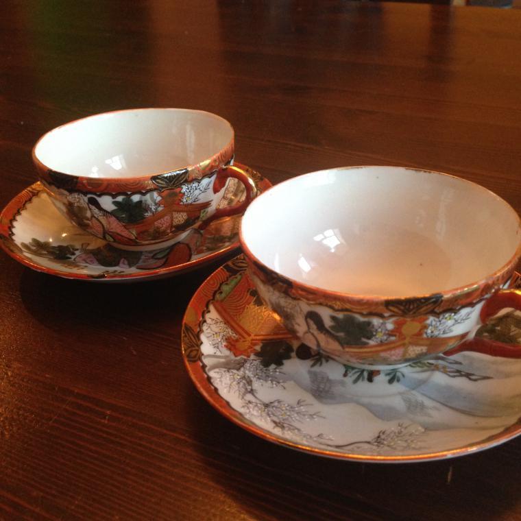 яшмовый фарфор, кофе, японский стиль, костяной фарфор, чашка, чайник