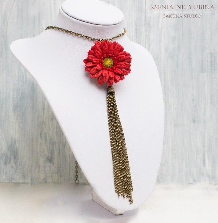 мастер-класс, цветы из полимерной глины