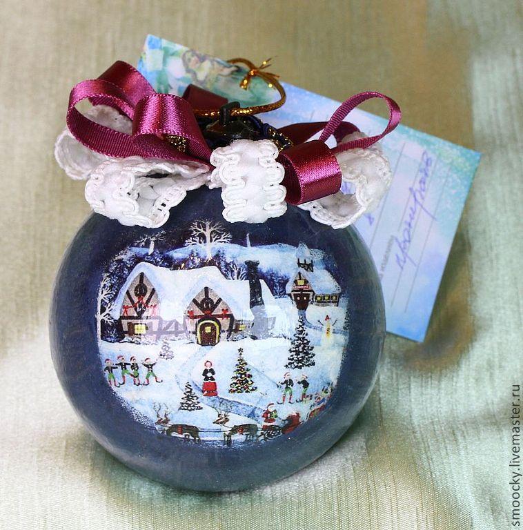 новогодние сувениры, подарки коллегам на нг, купить шар ручная работа, новогодний декор 2015