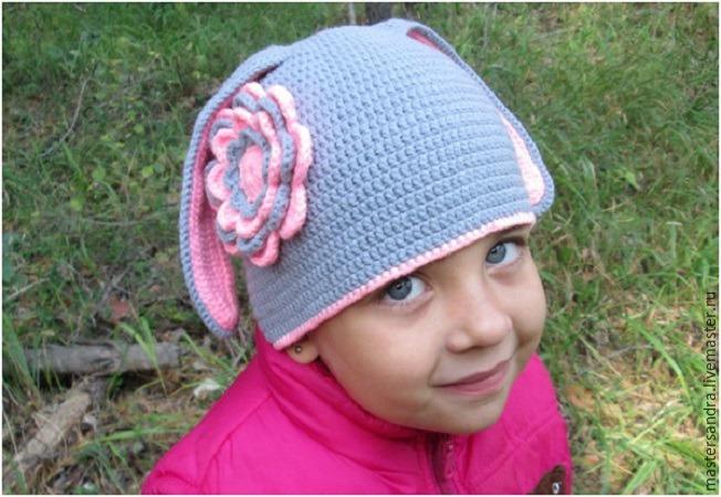 мастерсандра, шапочка для девочки, детская шапочка