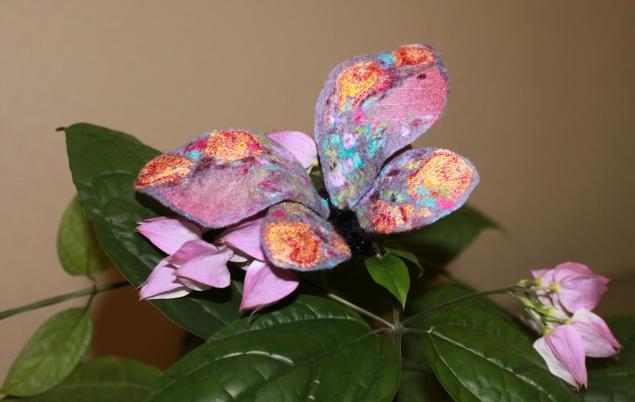 валяная бабочка