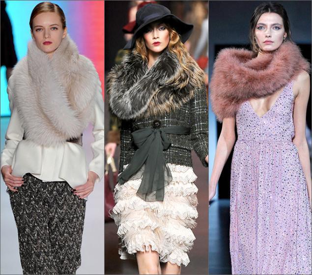 чернобурка, зимняя мода