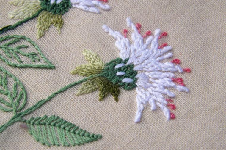 вышивка диких трав