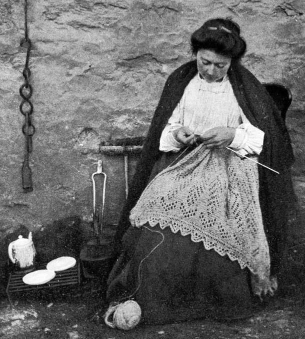 из истории вязания удивительное шетландское кружево ярмарка мастеров