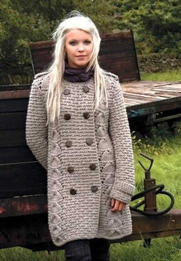 вязание спицамиженское пальто