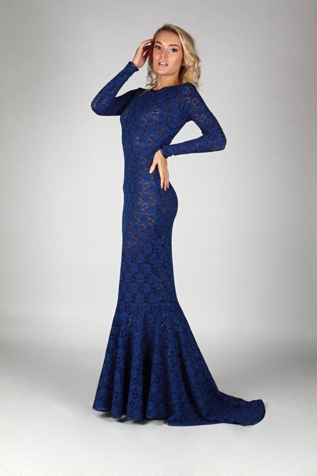 скидка, акция магазина, платье, вечернее платье, дизайнерская одежда, мода, волшебство, кружева, синий, длинное платье, шлейф, мечта, день всех влюбленных, день святого валентина