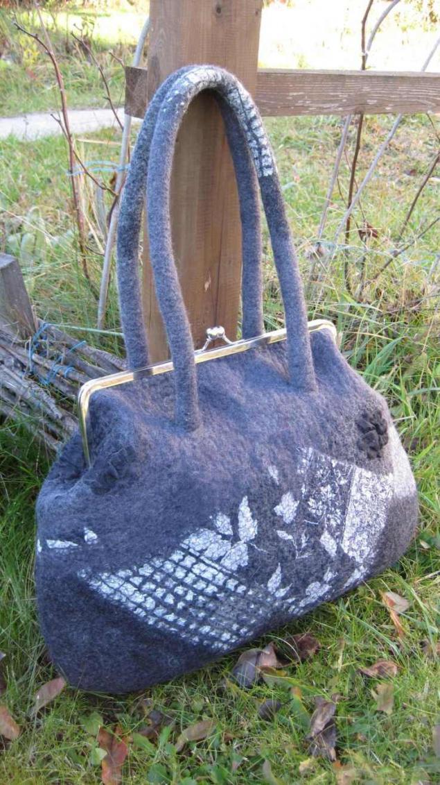 мокрое валяние, валяная сумка