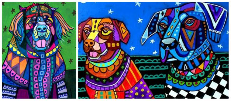 Психоделические собаки Heather Galler: невероятно яркие картины американской художницы, фото № 3