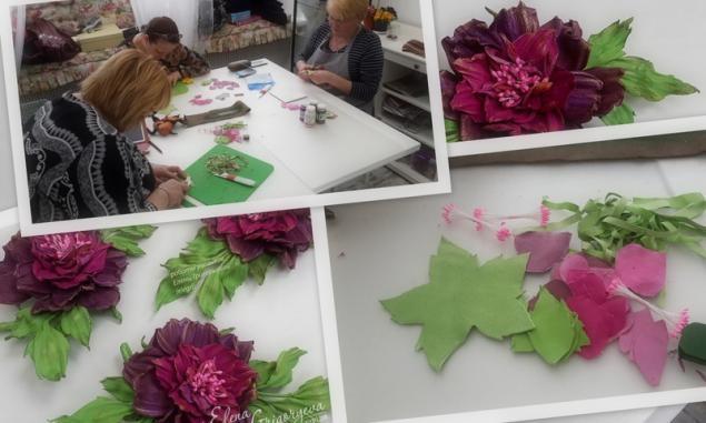 мастер-класс роза, обучение розы, заказать розу, подарок женщине, мастер-класс кожа, цветы своими руками, эксклюзивные цветы